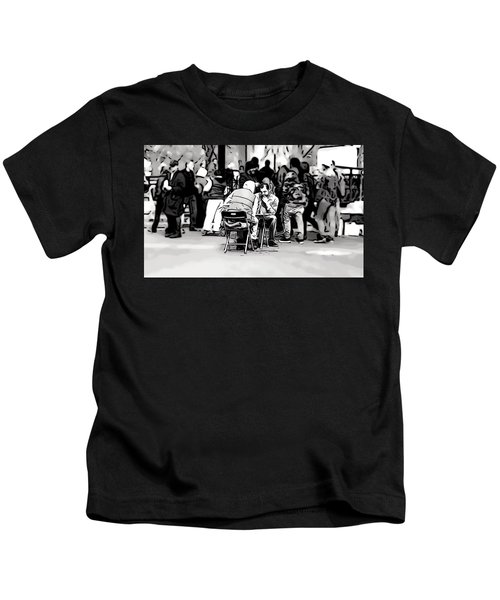 Chess Match Union Square  Kids T-Shirt