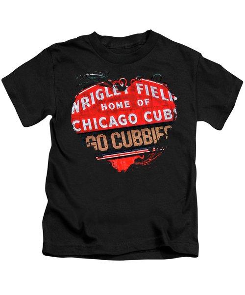 Chicago Cubs Wrigley Field Kids T-Shirt