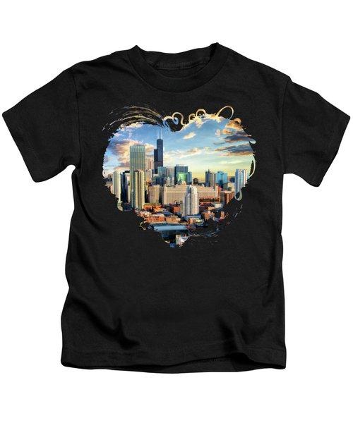 Chicago River North Kids T-Shirt