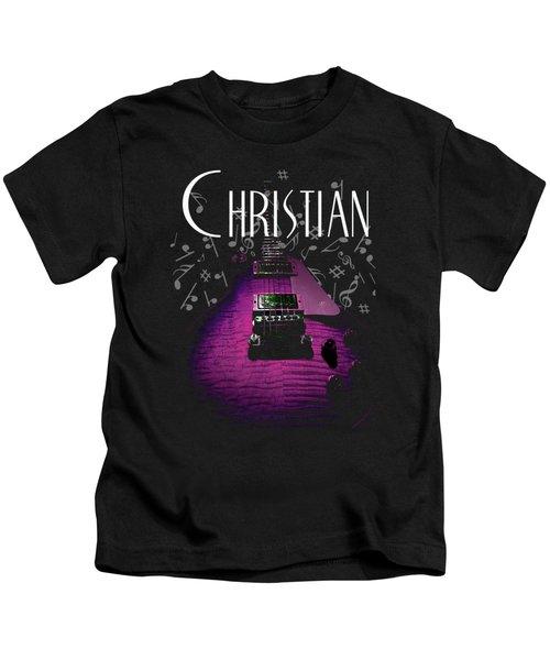Christian Music Guita Kids T-Shirt