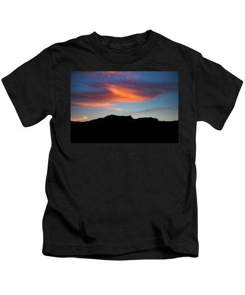 Cloud Over Mt. Boney Kids T-Shirt