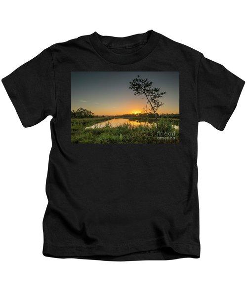 Cloudless Hungryland Sunrise Kids T-Shirt