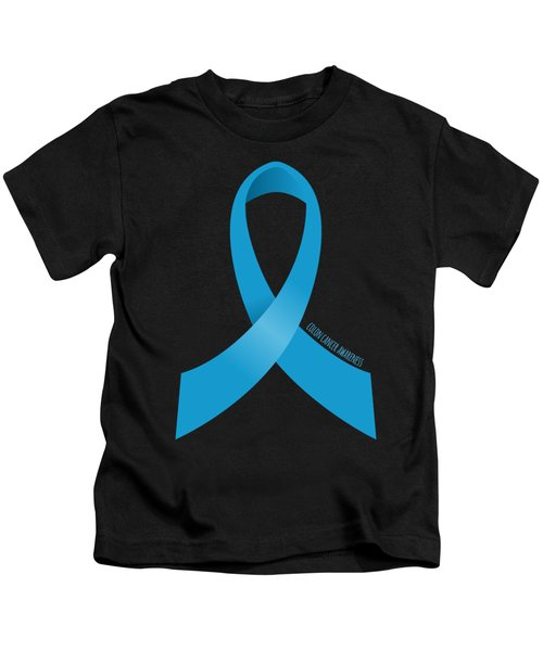 Colon Cancer Awareness Ribbon Kids T-Shirt