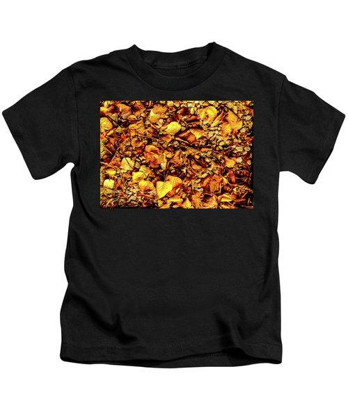 Colours. Autumn Gold Kids T-Shirt