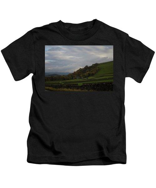 Derbyshire Stone Walls Kids T-Shirt