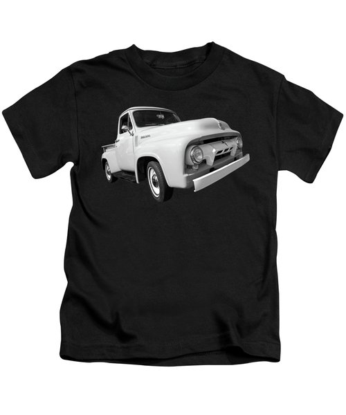Cool As Ice - 1954 Ford F-100 In Black And White Kids T-Shirt