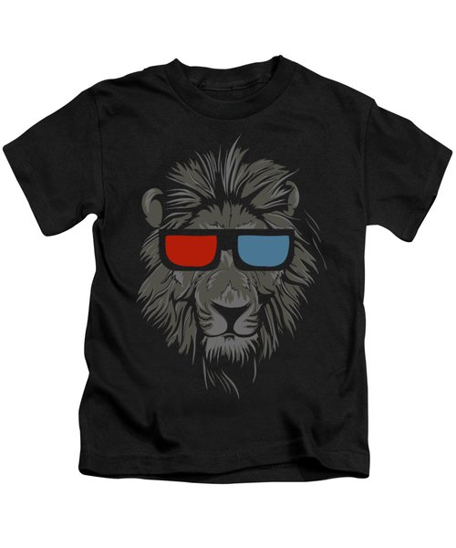 Cool Lion With Glasses Kids T-Shirt