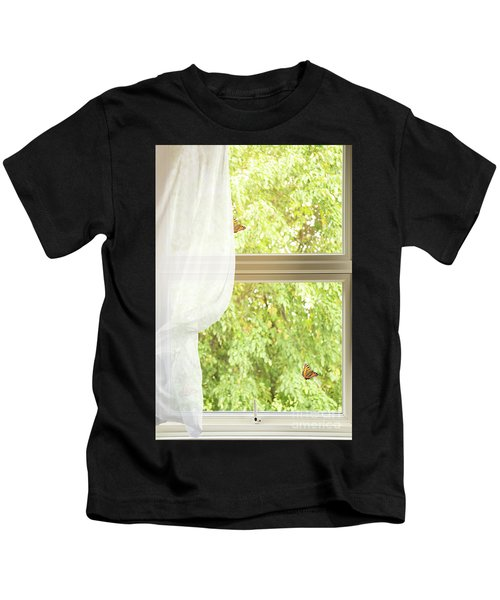 Country Cottage Window Kids T-Shirt