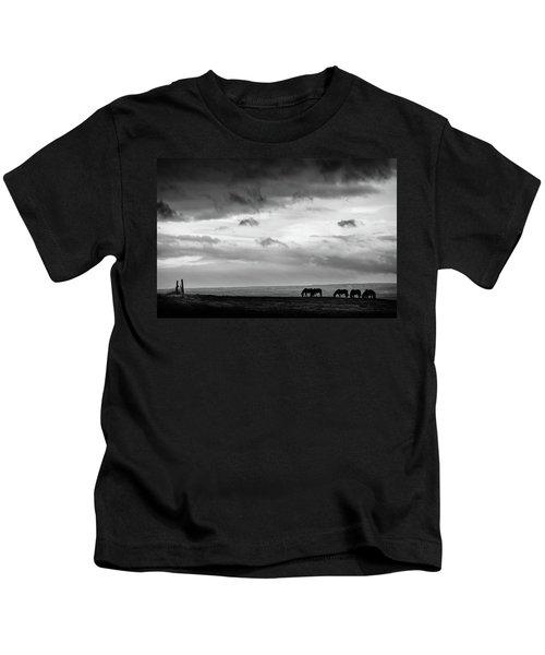 Days End At Hvammstangi Kids T-Shirt