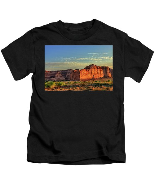 Desert Sunrise In Color Kids T-Shirt