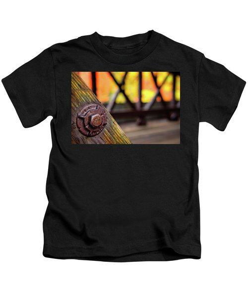 Details On A Covered Bridge Kids T-Shirt