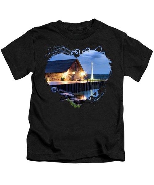 Door County Anderson Dock Twilight Kids T-Shirt