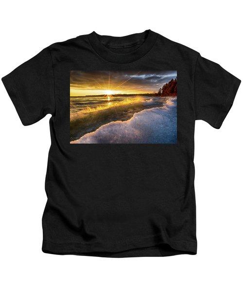 Door County Sunset Kids T-Shirt