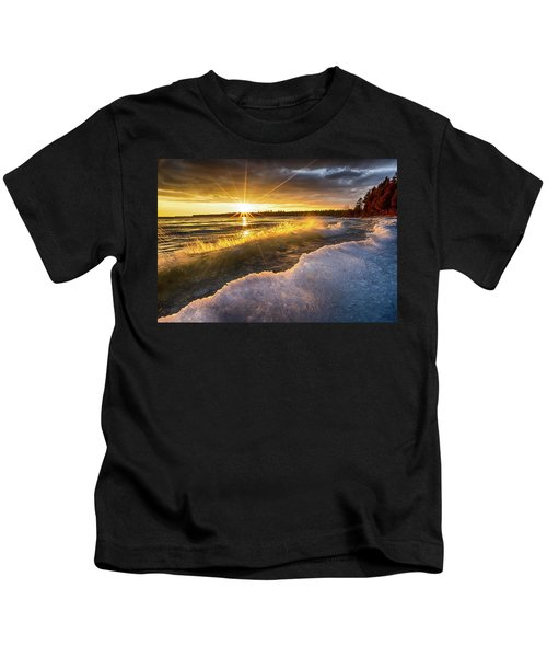 Door County Sunset Kids T-Shirt