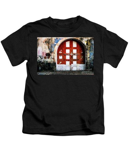 Doors Of India - Garage Door Kids T-Shirt
