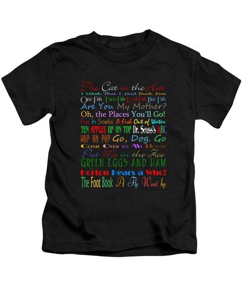 Dr Seuss Books 1 Kids T-Shirt