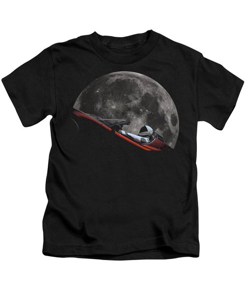 Driving Around The Moon Kids T-Shirt
