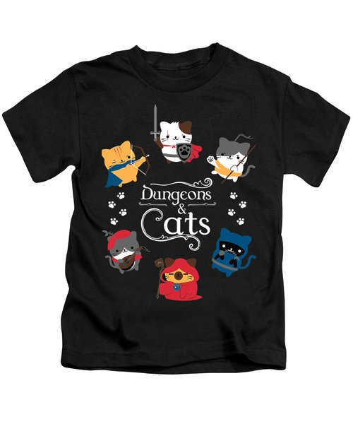 Dungeons  And Cats Kids T-Shirt