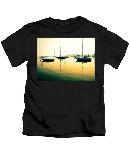 Early Mornings At The Harbour Kids T-Shirt