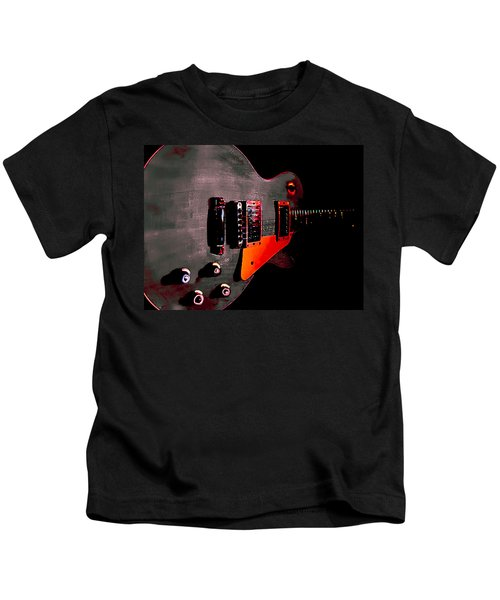 Ebony Relic Guitar Hover Series Kids T-Shirt