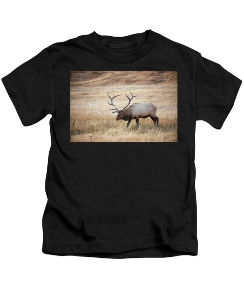 Elk In Yellowstone National Park Kids T-Shirt