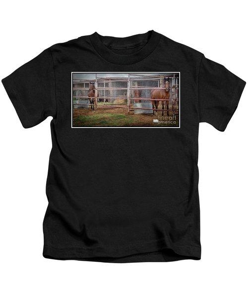 Equine Feline Kids T-Shirt