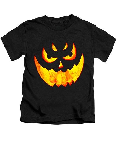 Evil Glowing Pumpkin Kids T-Shirt