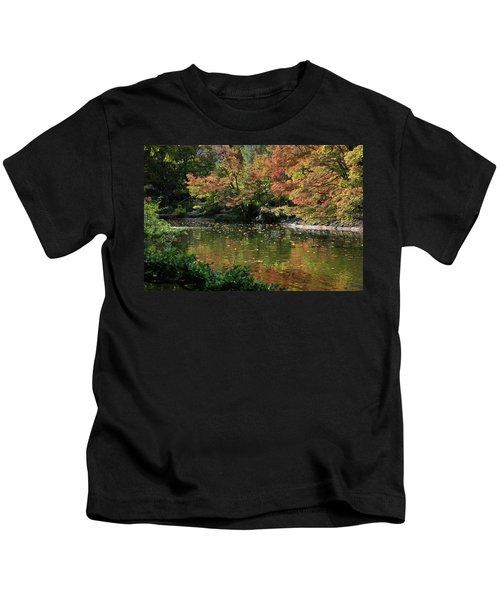 Fall At The Japanese Garden Kids T-Shirt
