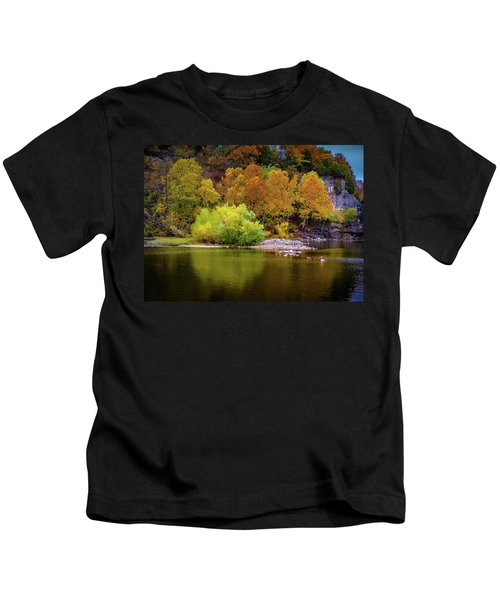 Fall Colors Of The Ozarks Kids T-Shirt