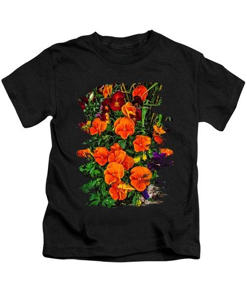 Fall Pansies Kids T-Shirt