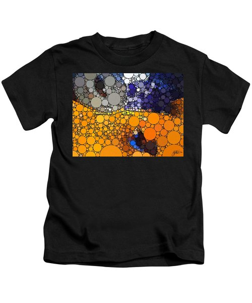 Kids T-Shirt featuring the digital art Father Figure by Chris Montcalmo