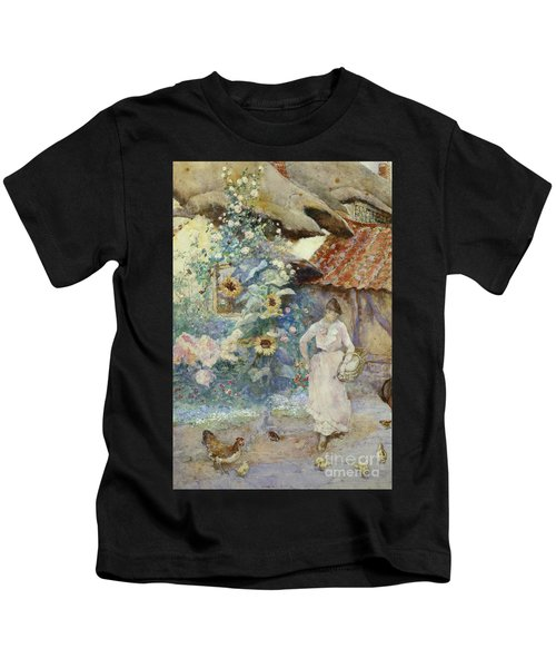 Feeding The Chickens Kids T-Shirt