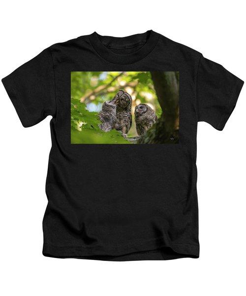 Feeding The Owlets Kids T-Shirt