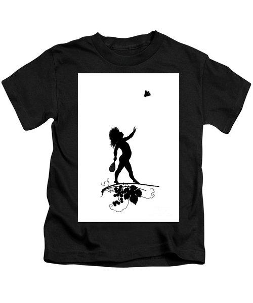Figure With Shuttlecock Kids T-Shirt