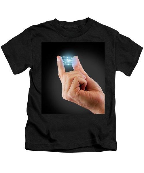 Fingertip Artificial Intelligence Kids T-Shirt