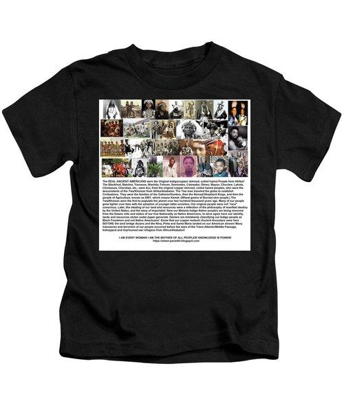 First Native Americans Were Indigo Twa Black Afrikans Kids T-Shirt