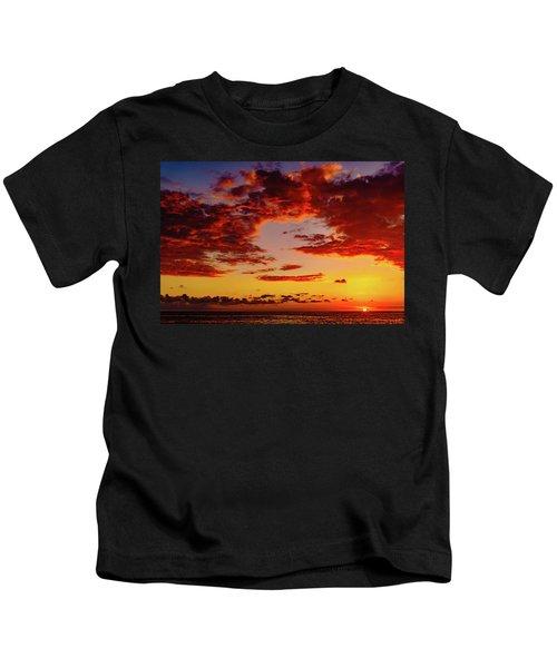 First November Sunset Kids T-Shirt