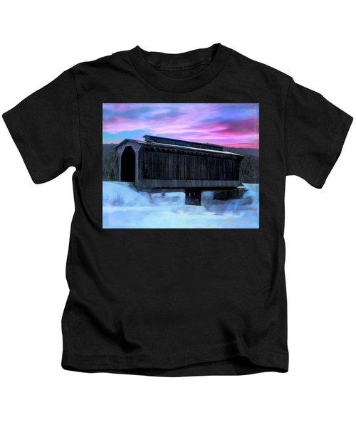 Fisher Raiilroad Covered Bridge Wolcott Vermont. Kids T-Shirt
