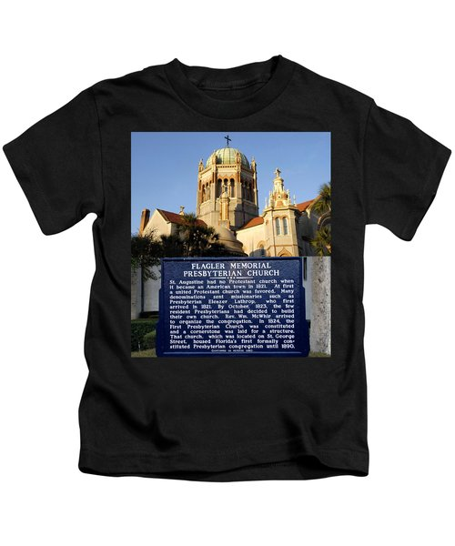 Flagler Memorial Church St. Augustine Kids T-Shirt