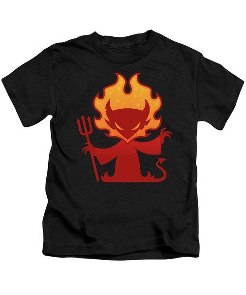 Flaming Devil Kids T-Shirt