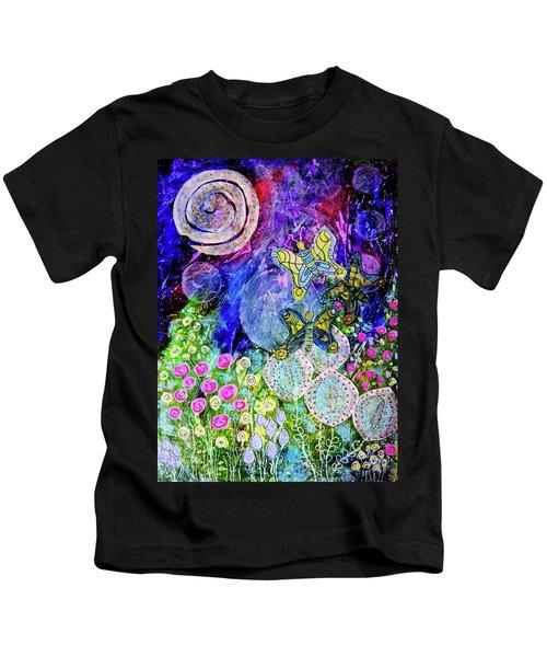 Flight Of The Lunar Moths Kids T-Shirt
