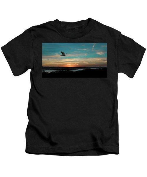 Flight To The Lake Kids T-Shirt