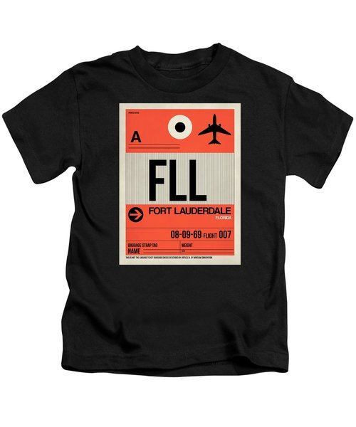 Fll Fort Lauderdale Luggage Tag I Kids T-Shirt