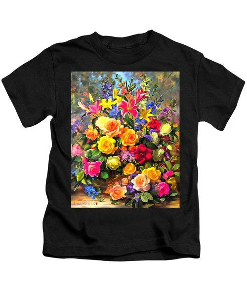 Floral Bouquet In Acrylic Kids T-Shirt