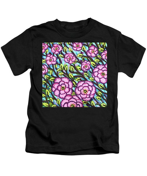 Floral Whimsy 3 Kids T-Shirt