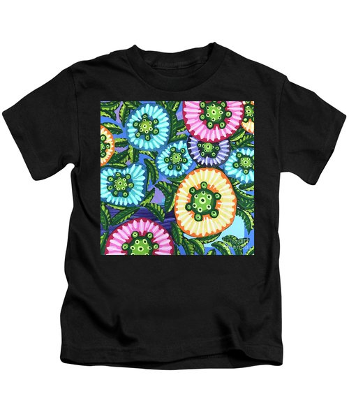Floral Whimsy 6 Kids T-Shirt