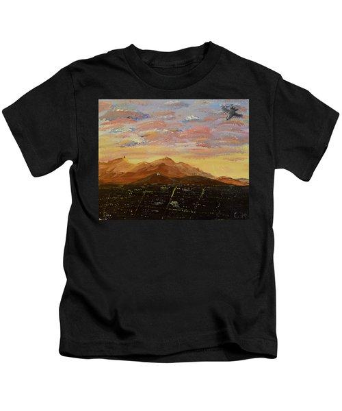 Flying Over Tucson Kids T-Shirt