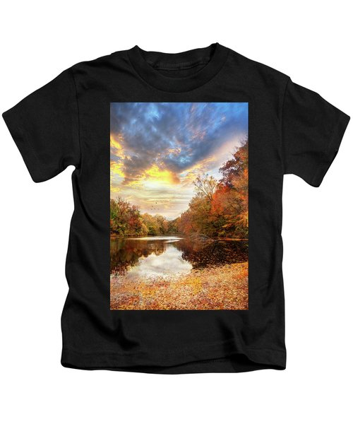 For The Love Of Autumn Kids T-Shirt