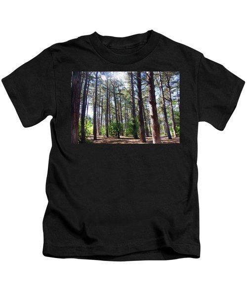 Formby. Woodland By The Coast Kids T-Shirt