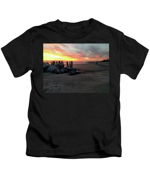 Fort Moultrie Sunset Kids T-Shirt